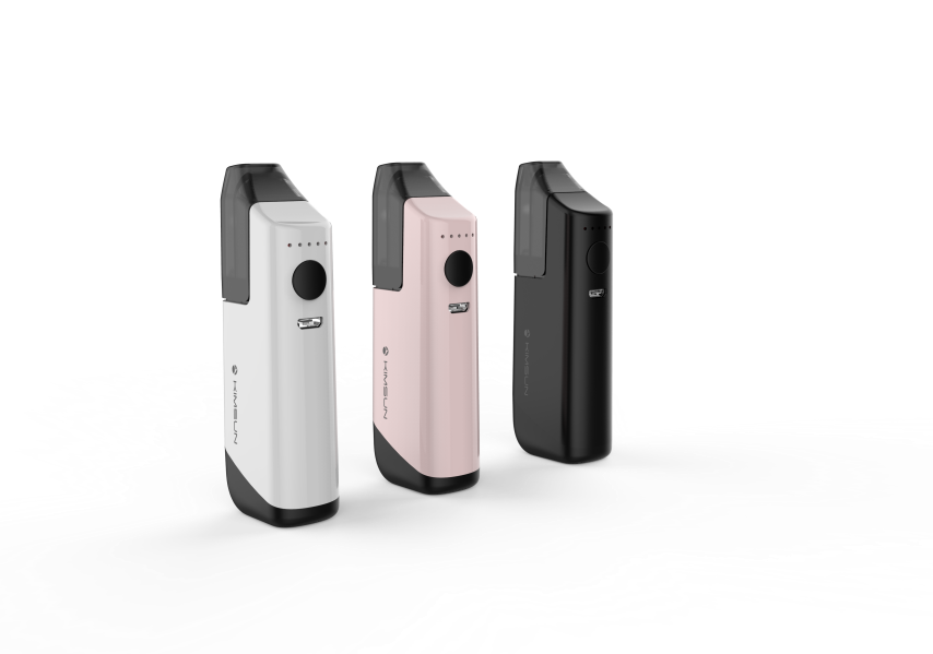 KIMSUN SLIM 2 colorful vape box mod kit with a 2ml disposable cartridge and a 1100mAh battery mini mod e cigs