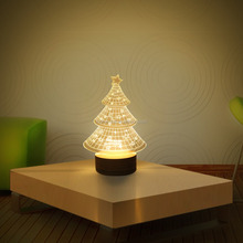 3d USB table top night light wooden unique night lights 3d illusion lights