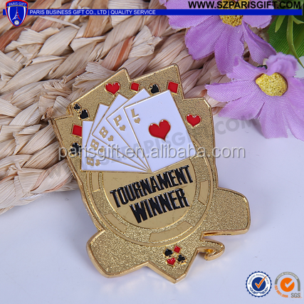 Custom poker winner pin for tournament
