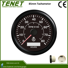 Universal RPM Gauge 85mm Waterproof IP67 Tachometer