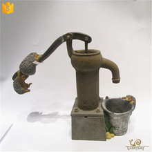 ED11079A Tabletop Water Fountain Decoration, Mini Water Fountain Statues, Battery Operated Indoor Water Fountain