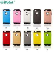 Wholesale custom in stock combo 2 in 1 robot armor cell phone case for iPhone 6