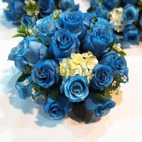 Pretty blue indian wedding table decorations indoor decoration flower stand royal blue wedding decoration
