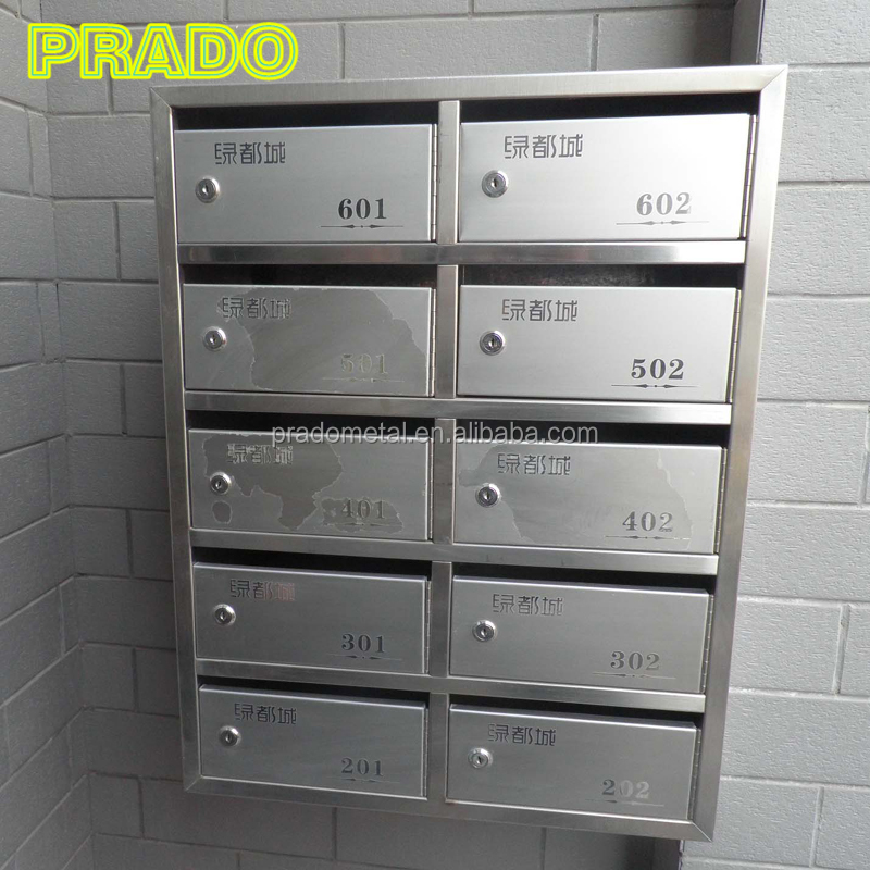 Stainless steel outdoor newspaper box