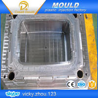 cheap injection mold low costs inject mould stacking crate mould
