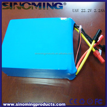 22000mAh 22.2V 15C 6S1P UAV Lipo Battery Pack