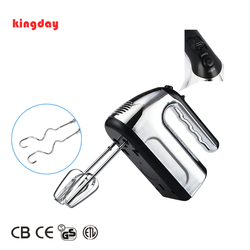 New design kitchen use 200W electric hand held mixer with hook and beater for dough and egg coffee cream whisk