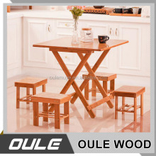 Solid Wood Dining Table and Chairs Set / simple design wooden dining table set
