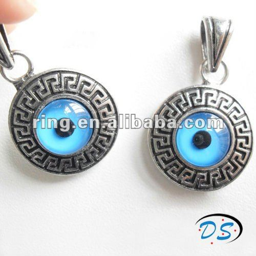 Evil Eye Turkey Glaze Exorcise Evil Spirits Round Shape Pendant