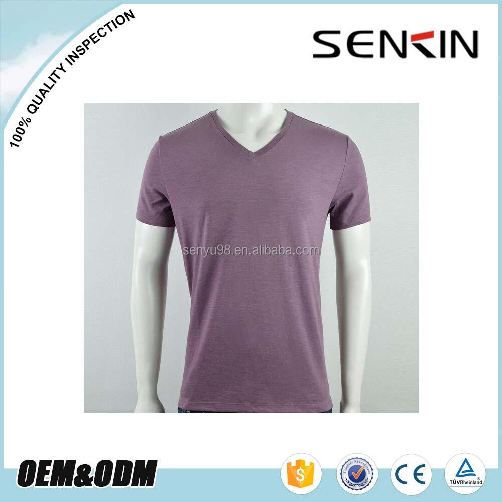 Bulk v neck t shirt for men custom promotional plain blank for Purchase t shirts in bulk