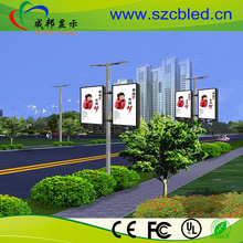 High Resolution Commercial Advertising lamp post/ Lighting Pole Outdoor LED Screen Price