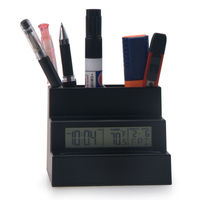 Digital Table Alarm Pen Holder with Clock for Business
