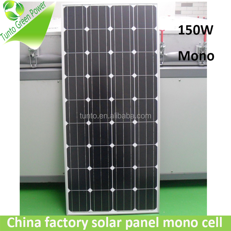 150W mono Chinese best price per watt solar panels for sale