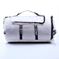 Large capacity gym bag fashion foldable canvas travel duffle bag