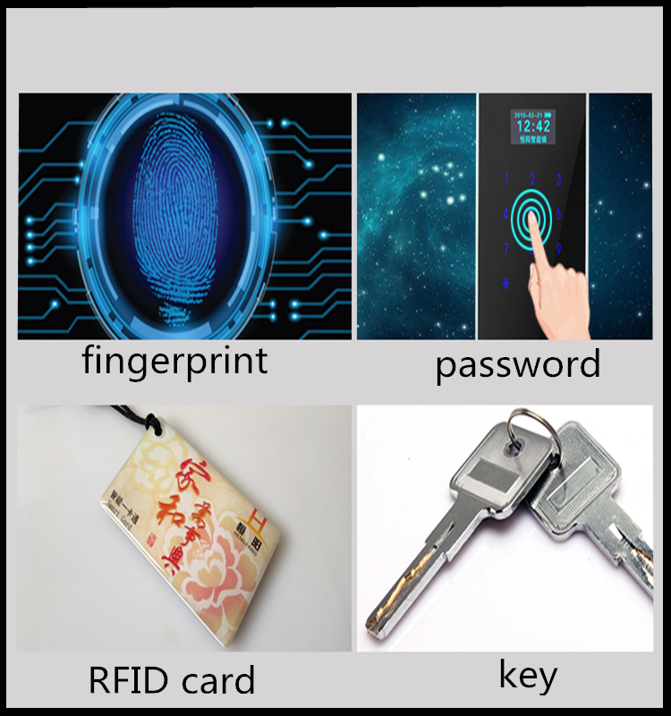 anti-theft fringerprint lock password PIN code lock with card