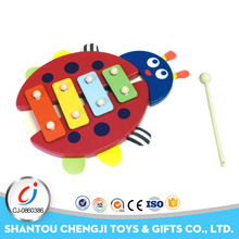 2017 wholesale baby musical instruments bee hand knocking wooden xylophone