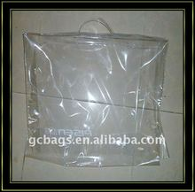 Clear PVC blanket bag with zipper
