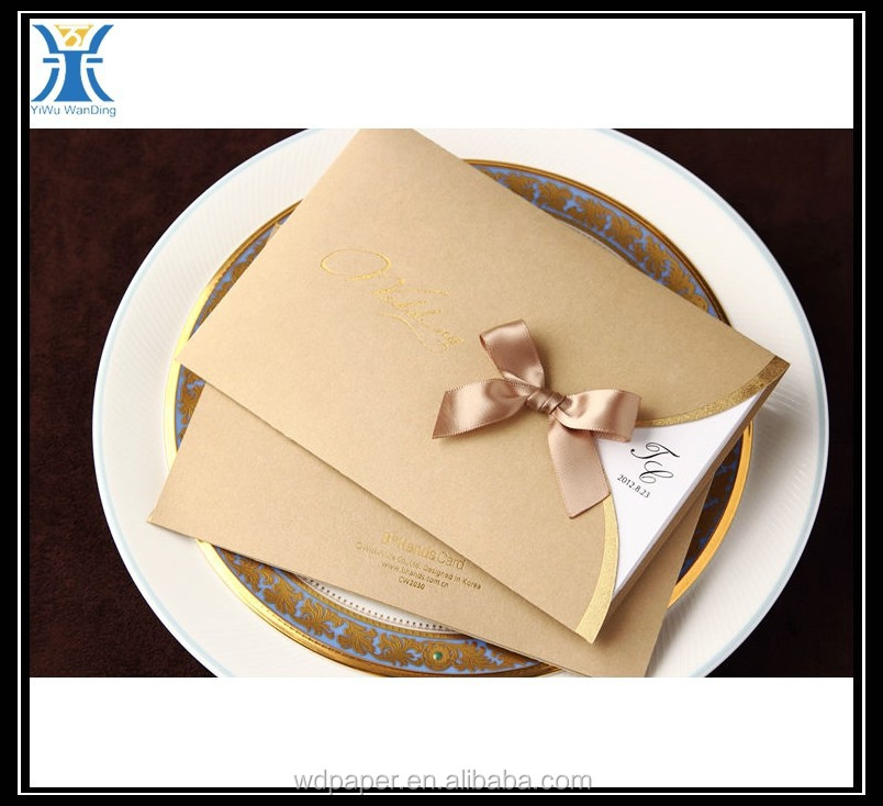 China alibaba Yiwu New Arrived luxury pearl paper decorative elegant Wedding Invitation Card