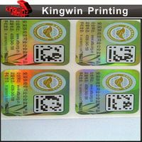 instruction label NO.03 4 color printing label, hologram sticker with numbering