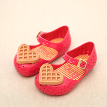 Summer Girls Shoes Mini Melissa Shoes for Girls Sandals 2016 Brand Toddler Sandals Cookies Jelly Children Shoes Girls Princess