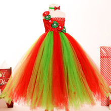 Kids Puffy Party Latest Net Dress Designs Christmas Dress for Little Girls