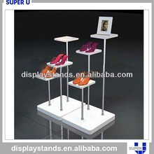 High quality wholesale acrylic glass shoe display stand