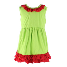 Wholesale Factory Manufacture Christmas 3 Years Old Girls Ruffle Smocked Dress Clothing Latest Dress Designs