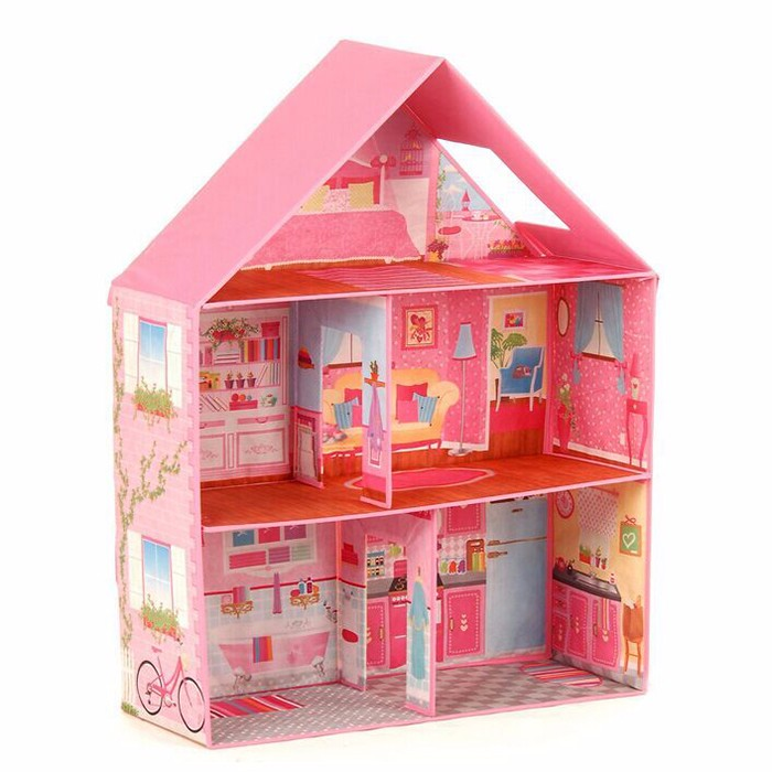 Beartiful princess MDF colorful diy wooden doll house