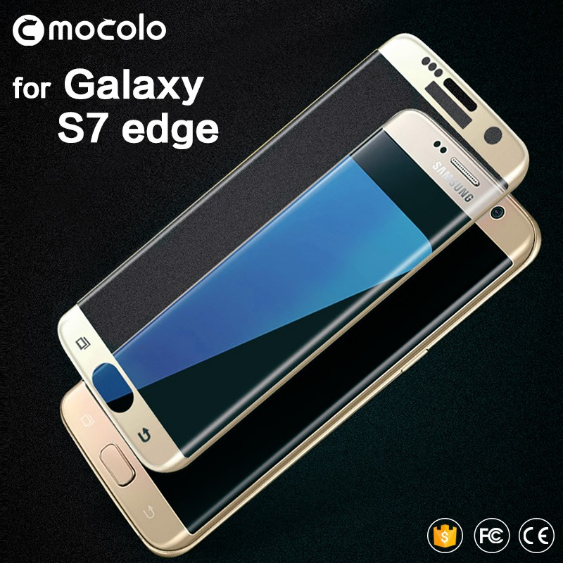 New Arrival Mocolo Full Cover 0.33mm 3D Curved For Samsung Galaxy S7 Edge Tempered Glass Screen Protector