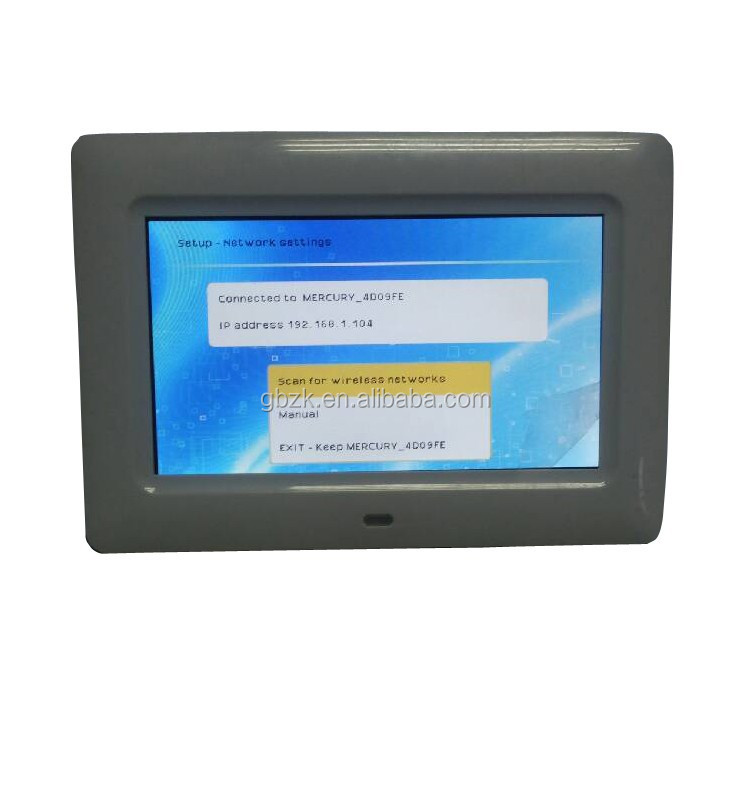 Android Wifi 7inch led screen digital photo frame lcd display
