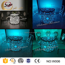 LED round light used wedding tables and chairs for wedding events