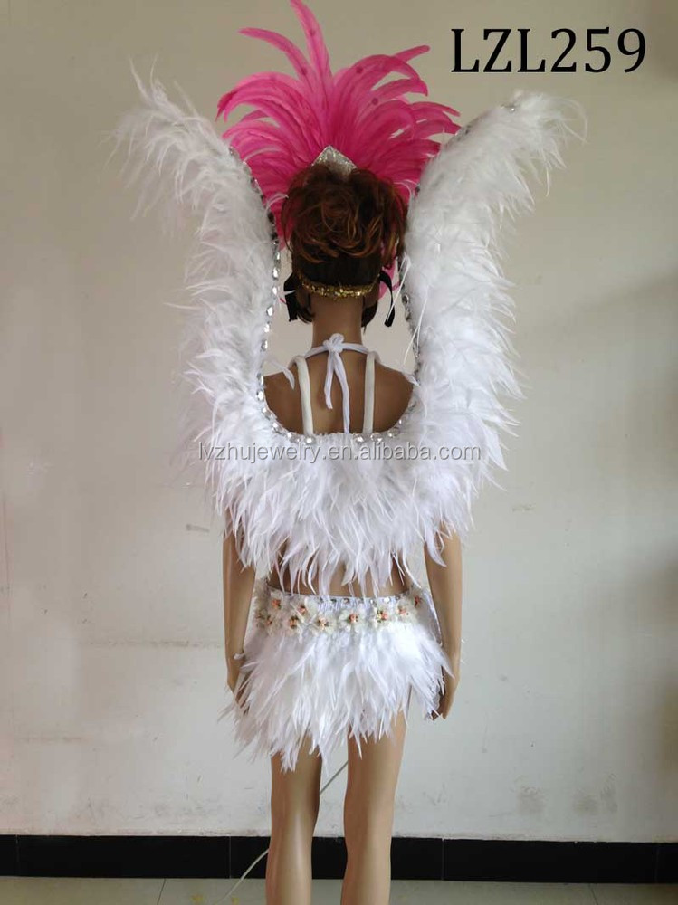 Showgirl/Dance Burlesque Feather samba costume LZL259