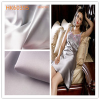 Hot selling drape shimmer stretch satin chiffon fabric for night sleeping dress