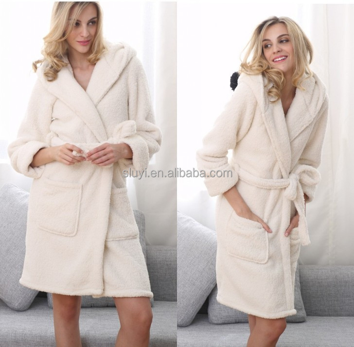 hot new products for 2016 women bath robe fabric for winter
