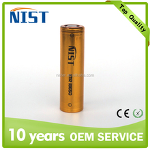NIST rechargeable li-ion battery 50A 18650 battery vs LG HG2 3000mAh