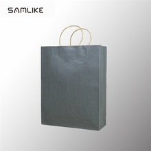 Hot sale shopping nice kraft paper bag with Logo printed custom twist handle for grocery