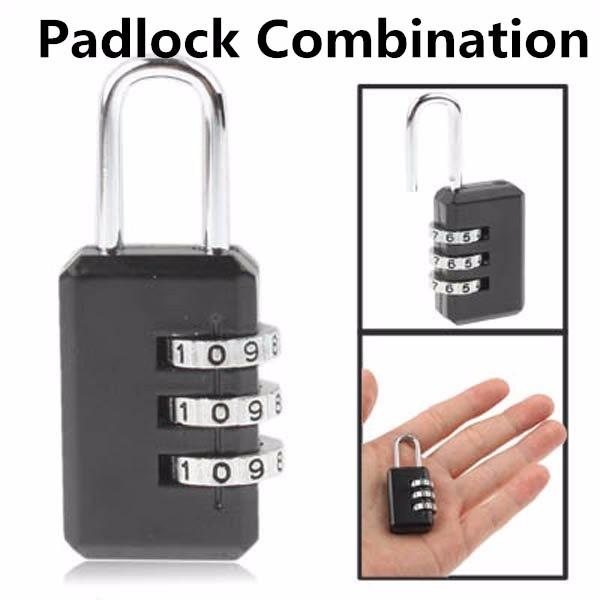 Amazon Top Selling 2 Pack Combination Lock 3 Digit Padlock for School Gym Locker, Luggage Suitcase Baggage Locks