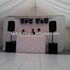 guangzhou wedding lighted stage decoration drapes design