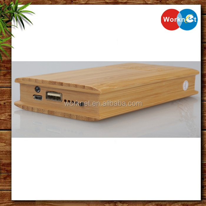 2016 new fashion 12000 mah bamboo power bank for promotion, portable power bank wood 12000 mah