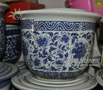 Chinese jingdezhen hand painted porcelain flower pots in home and garden