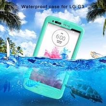 Waterproof TPU PC Slim Combo Case Cover For LG G3