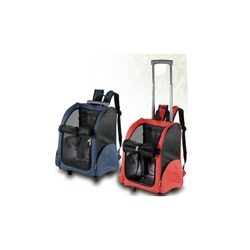 Convenient dog pet carrier bag,travel dog trolley bag with wheel telescopic handle
