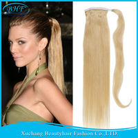 100% human hair ponytail,real hair ponytail wig