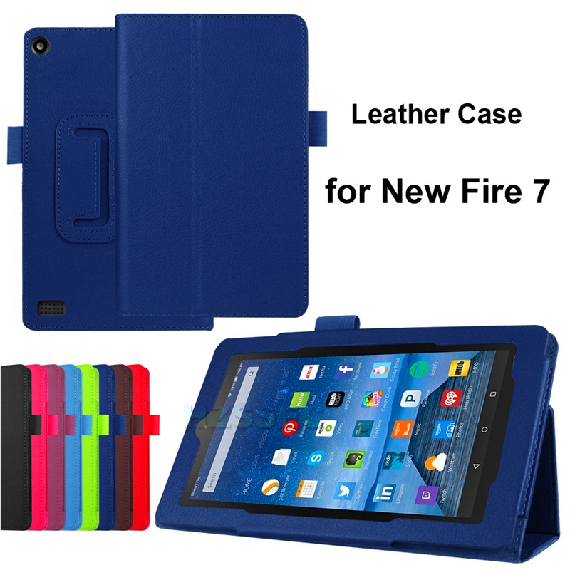 Smart Shell Leather Cover For Amazon Kindle HD Fire 7 Tablet Case
