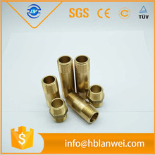 "3/4"" pipe size Brass Fittings Brass nipple with BSPT thread"