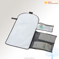 Baby changer bag portable diaper changing kit station for home, baby foldable travel changing pad