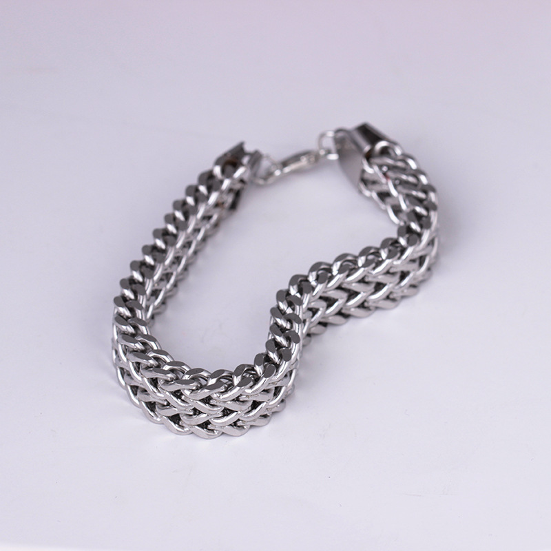 Newest fashion titanium chain bracelet simple stainless steel <strong>accessories</strong>