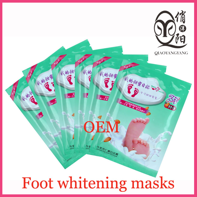 Milk foot defoliator whitening masks for feet whiten skin tender OEM Exfoliating Scrub