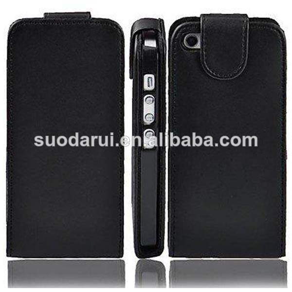 In stock PU Leather Wallet Leather Flip Case for iPhone 4S 4 cover Mix color
