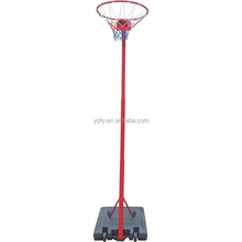 Portable height adjustable basketball stand